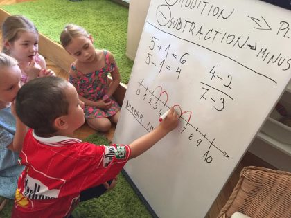 Adding and subtracting- math lesson