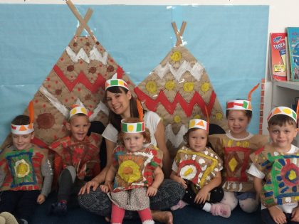 Summer program. Little indians